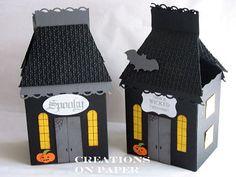 Creations on Paper: Haunted House Treat Box - Tutorial-milk cartoon die