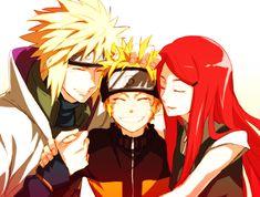Minato, Naruto and Kushina.