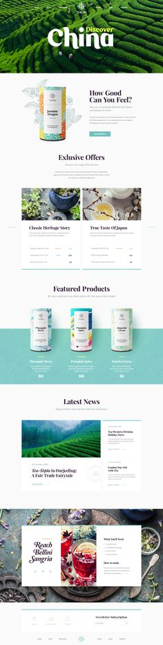 TEAORI – Ui design concept and delightful visual identity for an #e-commerce #website, by the greateful Mike | Creative Mints.