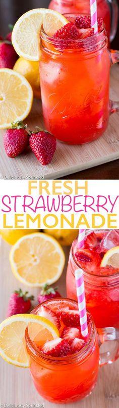 Fresh Strawberry Lemonade: Delicious, super quick and easy to prepare.