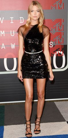 Martha Hunt in Georges Chakra Couture.  2015 Video Music Awards Red Carpet - Martha Hunt from InStyle.com