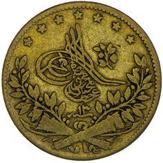 Abdul Mejid 1839 - 1861 50 Kurush 1255 AH Jahr 13, Münzen nach der Münzreform von 1845