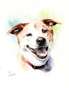 CUSTOM DOG PORTRAIT custom pet portrait dog lover by SignedSweet