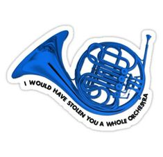'how i met your mother – blue french horn' Sticker by electricgal – Stickers … – Musik How I Met Your Mother, Laptop Stickers, Wall Stickers, Entertainment System, Tumblr Stickers, French Horn, Himym, Work Gloves, I Meet You