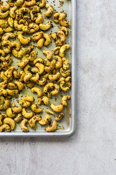 Turmeric Roasted Cashews With Chia (I used coconut oil, added cumin and cinnamon and didn't use rosemary)