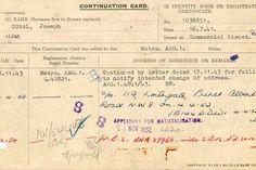 Continuation card of Joe Coral (MEPO 35/16/2)