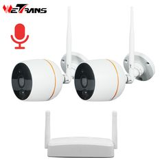Wetrans CCTV Camera System Wireless HD 1080P Home Security Wifi IP Camera NVR Kit Surveillance Audio Waterproof Night Vision  Price: 149.00 & FREE Shipping  #tech #electronics #bluetooth #computers Wireless Security Camera System, Wireless Camera, Bluetooth, Cctv Kits, Night Video, Card Storage, Network Cable, Built In Speakers
