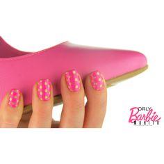 Barbie nails vol. 3: golden dotticure. | MOHITO