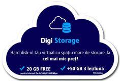 Digi Storage, serviciu Cloud de la RDS Clouds, Storage, Cots, Purse Storage, Larger, Store, Cloud
