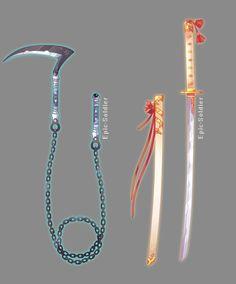 Soy akira villin tengo 18 años y soy una asesina #fanfiction # Fanfiction # amreading # books # wattpad Espada Anime, Armas Ninja, Cool Swords, Ninja Weapons, Sword Design, Weapon Concept Art, Magic Art, Art Reference Poses, Katana