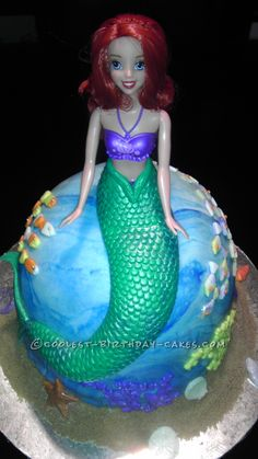 Coolest Princess Ariel Birthday Cake... This website is the Pinterest of birthday cake ideas