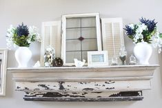 Get ready for the nice weather! Update your room's look with these gorgeous spring mantel decorating ideas!