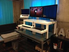 standing desk ikea hack