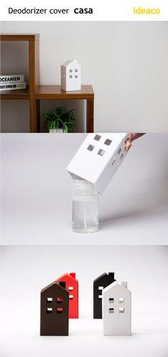 A designer cover for your room fragrance. Enjoy this novel house-shape form!