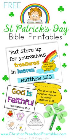 St. Patrick's Day Bible Verse Resources, Crafts & More