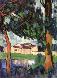'Landscape at Chatou', Maurice de Vlaminck, circa 1907