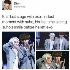 Okay now I'm an emo mess because of Suho & Kris again-.-