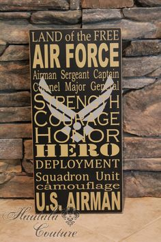 Air Force Rustic/Primitive Art