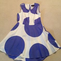 PJK Pattern of Kinkaid Dress. New with tags Size L PJK Pattern of Kinkaid Dress. New with tags Size L. Lilac and white. Has fitted skirt under flavored skirt. Such a cute style. Never worn. Perfect condition. Pattern of Kinkaid Dresses Midi