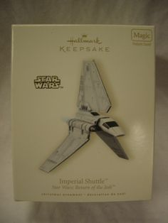 Hallmark Ornament Imperial Shuttle.  Retailed for $32, asking $22.  Mint in box.  Features sounds.