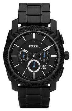 Fossil Knurled Chronograph Watch