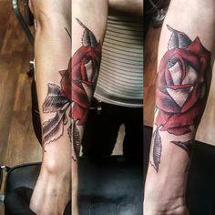 Simply sweet.... ty @ . . . . . #chickswithtattoos #badass #rose #roses #rosetattoo #inklife #traditionaltattoos #traditional #traditionalrose #ink