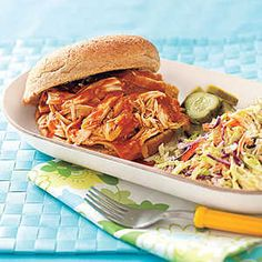 Slow Cooker Recipes Under 300 Calories | Pulled Chicken | MyRecipes