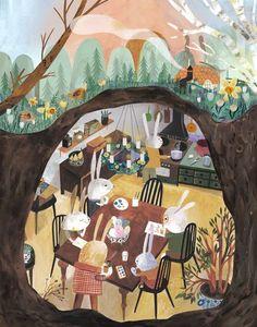 Art And Illustration, Easter Illustration, Illustrations Posters, Kunst Inspo, Art Inspo, Cute Art, Art Lessons, Book Art, Art Drawings