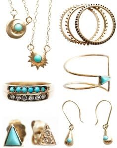 turquoise gold & diamonds, please. by Natalie Larin