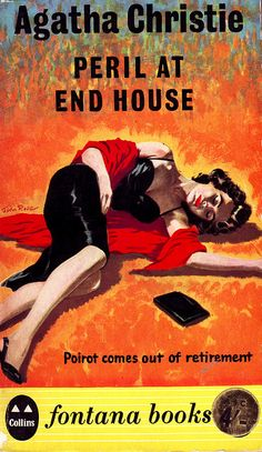 Agatha Christie, Peril at End House, Fontana paperback, 1961