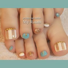 48 toe nail art designs to keep up with trends 2019 044 Related Pedicure Nail Art, Pedicure Designs, Toe Nail Designs, Toe Nail Art, Acrylic Nails, Pretty Toe Nails, Cute Toe Nails, Summer Toe Nails, Summer Pedicures