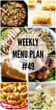 Weekly Menu Plan - a great and delicious collection of dinner ideas, sides and desserts to help you plan your weekly menu. Meal Planning Board, Weekly Menu Planning, Cooking Recipes, Healthy Recipes, Healthy Dinners, Weeknight Recipes, Quick Recipes, Healthy Cooking, Healthy Eats