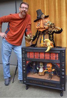 Scott Smith of rucus-studio Halloween Doll, Halloween Items, Spooky Halloween, Holidays Halloween, Vintage Halloween, Halloween Crafts, Happy Halloween, Halloween Decorations, Halloween Costumes
