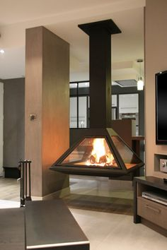 Decor, House, Home, A Frame House, Deco, Foyer, Modern, Modern Fireplace, Porch