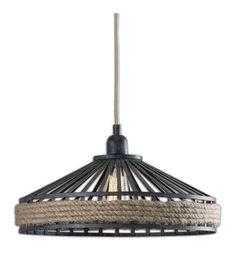 Uttermost Corda 1 Light Pendant in Rustic 22026 #lightingnewyork #lny #lighting