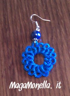 tatted earrings - orecchini a chiacchierino