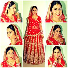 Red lehenga from a real Indian wedding