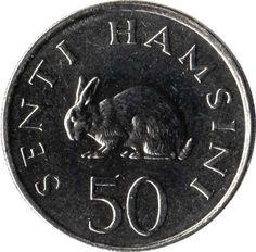 50 Senti #Tanzania -1988-1990 Ritrae un coniglio che è un animale della vista super: riesce a vedere in tutte le direzioni senza muovere la testa.