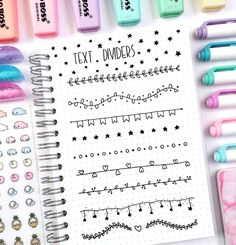 36 Simple Doodles You Can Easily Copy in Your Bullet Journal bullet journal doodles – so cute text dividers! Bullet Journal Inspo, Bullet Journal Headers, Bullet Journal 2019, Bullet Journal Aesthetic, Bullet Journal Ideas Pages, Bullet Journal Spread, Bullet Journal Dividers, Bullet Journal Ideas Handwriting, Journal Diary