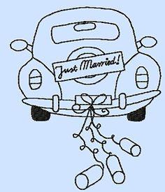 Das HochzeitsautoCabrio Ausmalbild aus der Kategorie