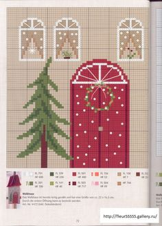 Χειροτεχνήματα: Σχέδια με σπιτάκια για κέντημα / House cross stitch patterns