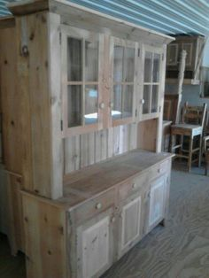 Reclaimed Barn Wood Kitchen Dining Hutch China by ValentinoDesigns, $895.00