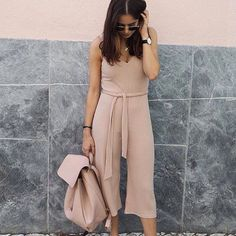 CLICK HERE http://www.youtube.com/channel/UCqEqHuax3qm6eGA6K06_MmQ?sub_confirmation=1 Blush on blush  'Laura Ribbed Culotte Self Belt Jumpsuit'  @allihat #ootd #myboohoostyle #boohoo by boohoo