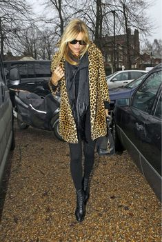 At this point, the words Kate Moss might as well be synonymous with leopard coat. It's the wardrobe staple Moss keeps going back to, year after yea