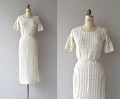 Nålebinding dress 1930s crochet dress vintage 30s crochet