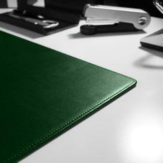 Schreibtischunterlage Klassik Leder grün 70x50 cm