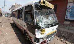 Bus de la E.T El Chosicano (Foto: diario El Popular)