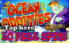 "SILVERSANDS MOBILE CASINO PROMOTION : 50 FREE SPINS  #SilverSandsCasino is happy to announce a new #promotion for the mobile version of the software. This promotion is only valid for the ZAR Casino players on the ""Go Mobile client""  Player can get  50 Free Spins on the slot Ocean Oddities using their mobile device! PLAY NOW  http://www.onlinecasinosonline.co.za/goto/silver-sands-casino.html"