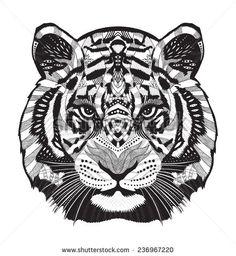 geometric drawing tiger - Google Search
