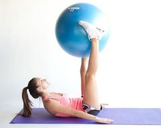 Lower Abdominal Workout With an Exercise Ball